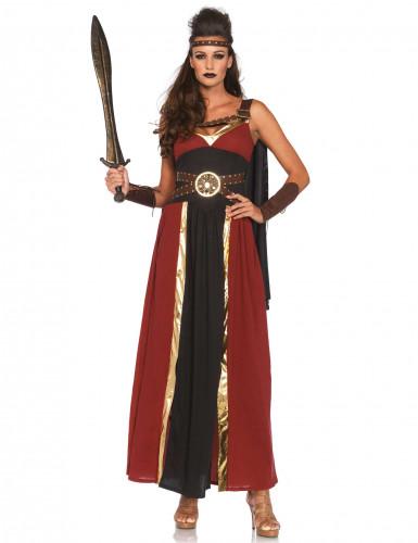 Déguisement guerrière romaine bordeau femme