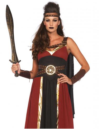 Déguisement guerrière romaine bordeau femme-1