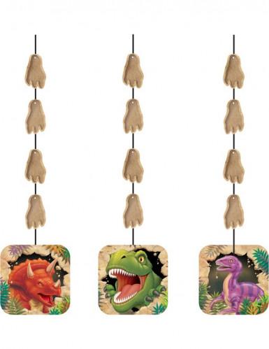 3 Décorations à suspendre anniversaire dinosaures 91 cm