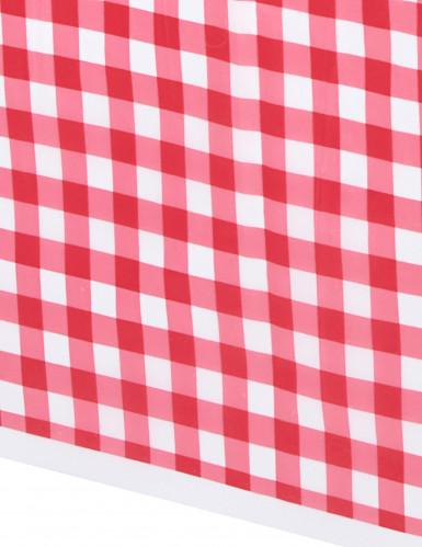 Nappe en plastique vichy rouge 137 x 274 cm-1