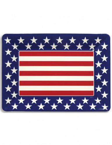 Plateau plastique étoiles USA 35 x 25 cm