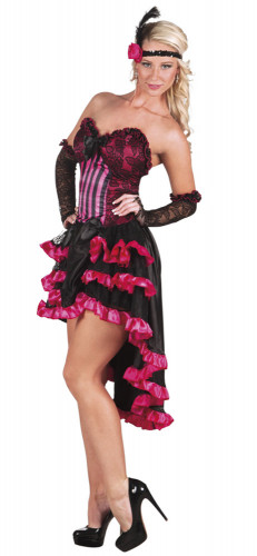 Déguisement french cancan rose femme