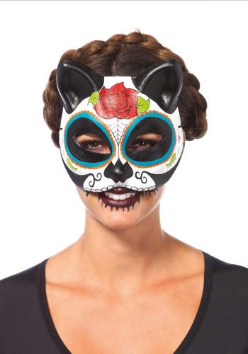 Creepyparty seaton maschera per halloween in lattice - Pagina colorazione maschera gatto ...