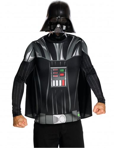 T-shirt avec cape et masque Dark Vador™ adulte