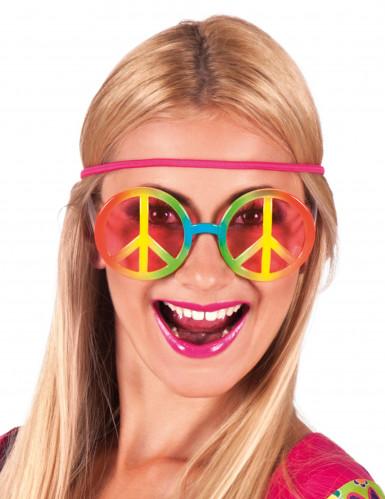 Lunettes hippie arc-en-ciel adulte
