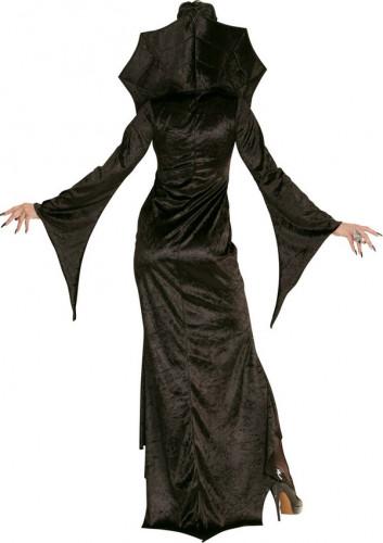 Déguisement comtesse araignée noire femme Halloween-1