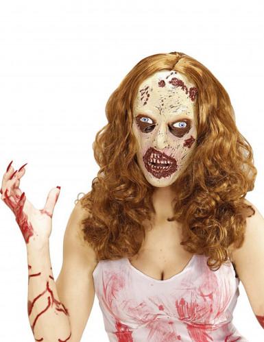 Perruque avec masque zombie adulte Halloween