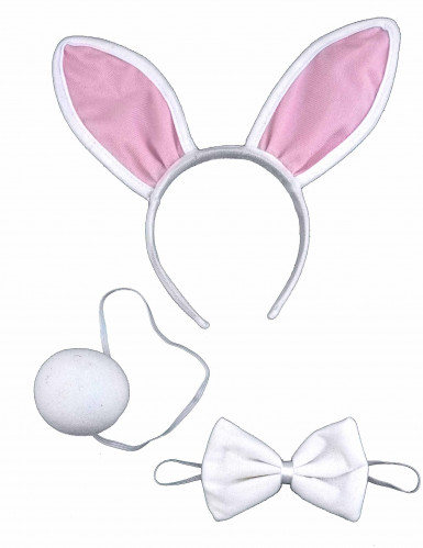 Kit lapin blanc et rose adulte-1