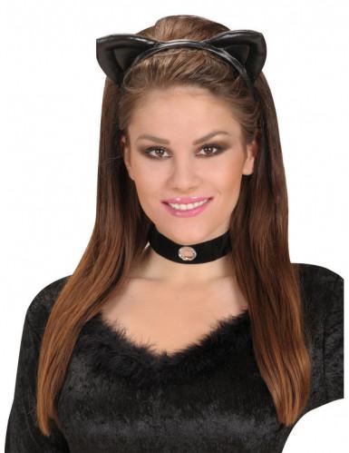 Serre-tête oreilles de chat noires adulte-1