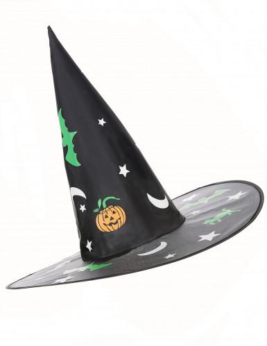 Chapeau sorcière avec décorations Halloween