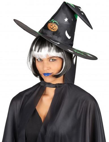 Chapeau sorcière avec décorations Halloween-1