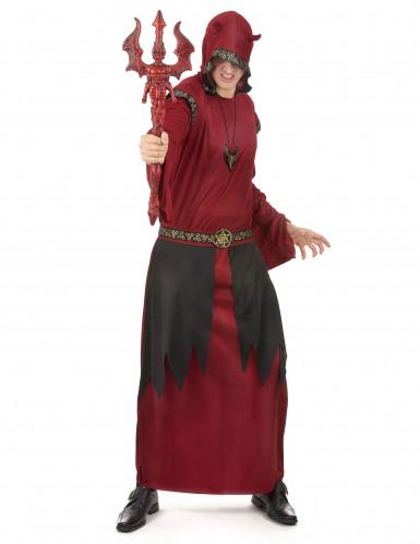 Déguisement comte satanique rouge homme Halloween
