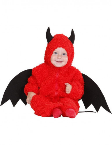 Déguisement petit démon rouge bébé Halloween