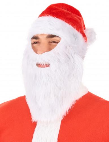 Bonnet Père Noël avec barbe adulte Noël-1