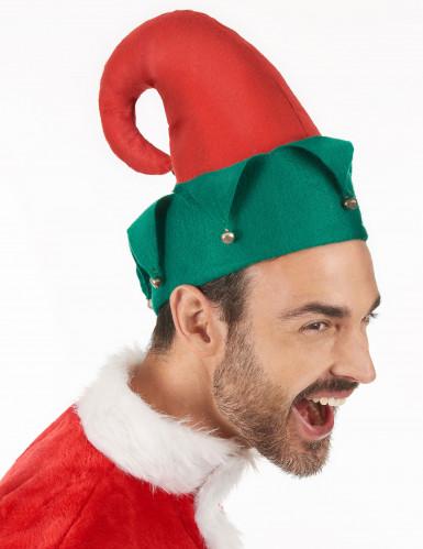 Chapeau lutin avec grelots Noël adulte-2