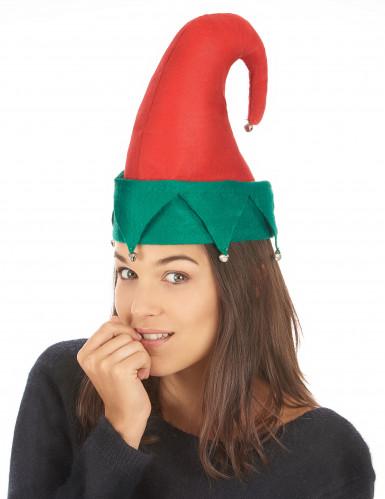 Chapeau lutin avec grelots Noël adulte-1