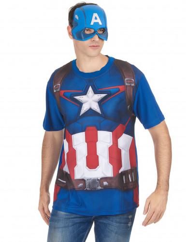 T-Shirt et masque adulte Captain America™ movie 2