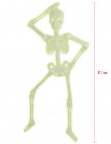 Squelette articulée phosphorescent Halloween 92 cm-1