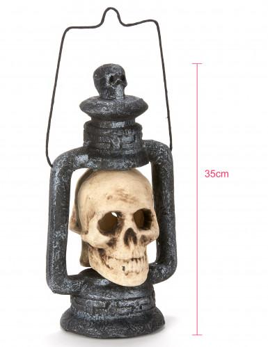 Lanterne crâne lumineuse 35 cm Halloween-2
