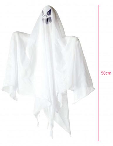 Décoration fantôme lumineux 50 cm Halloween-1