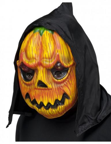 Masque citrouille avec capuche adulte Halloween