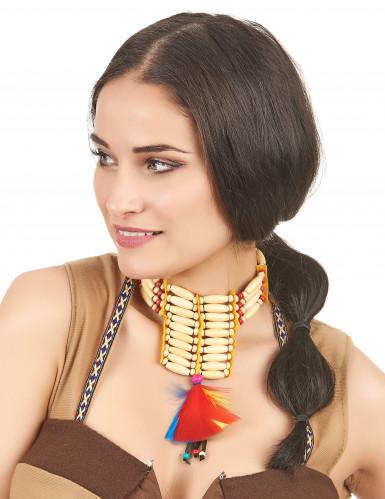Ras de cou indien à plumes femme-1