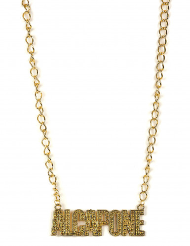 Collier gangster Al capone adulte
