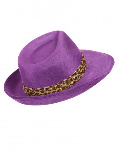 Chapeau pimp violet adulte-2