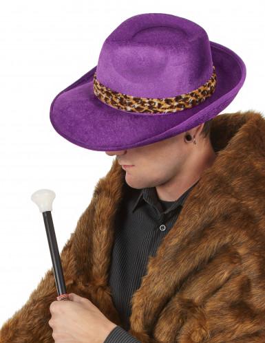 Chapeau pimp violet adulte-1