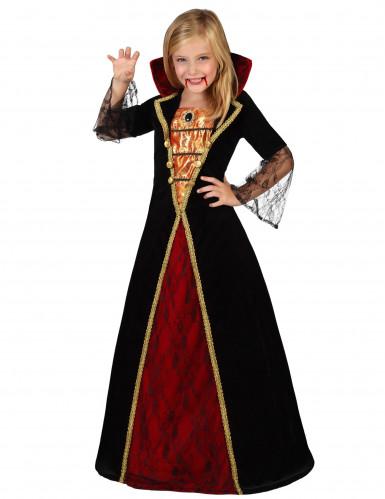 Déguisement élégant de vampire fille Halloween