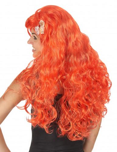 Perruque longue orange femme-1