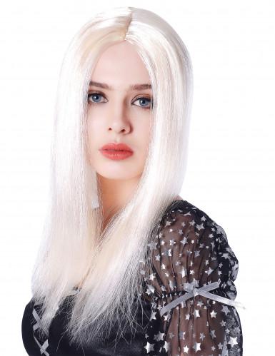 Perruque longue blonde femme - 45cm