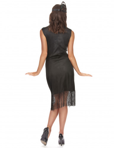 Déguisement robe Charleston noire femme-2