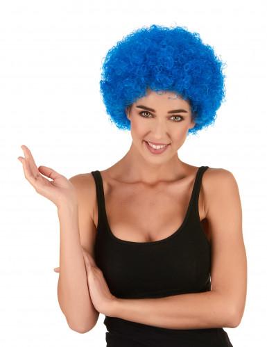 Perruque afro/ clown bleue standard adulte