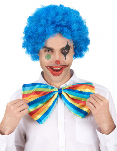 Perruque afro/ clown bleue standard adulte-1