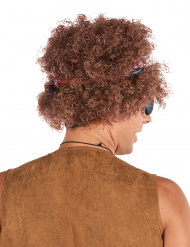 Perruque afro hippie homme - 130g-1
