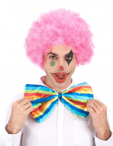 Perruque afro/ clown rose confort adulte