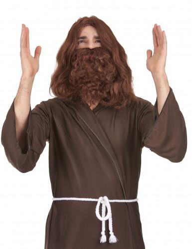 Perruque avec barbe Jésus homme
