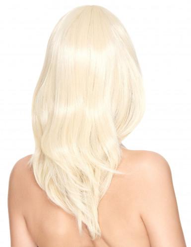 Perruque luxe blonde mi-longue femme - 170g-1