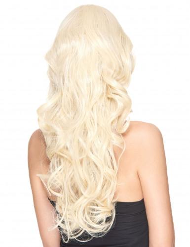 Perruque luxe blonde longue bouclée femme - 251g-1