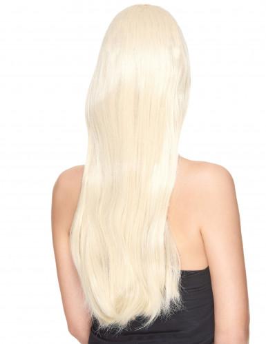 Perruque luxe blonde très longue femme-1