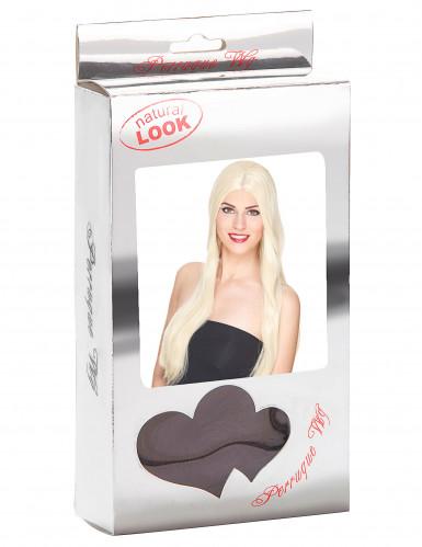 Perruque luxe blonde très longue femme-2