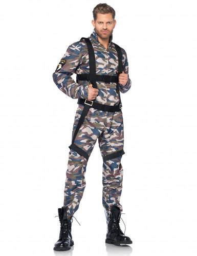 Déguisement militaire vert et beige homme