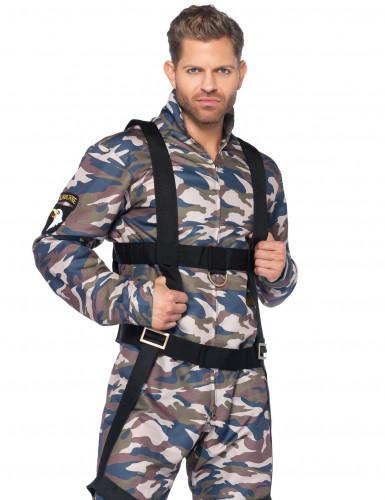Déguisement militaire vert et beige homme-1