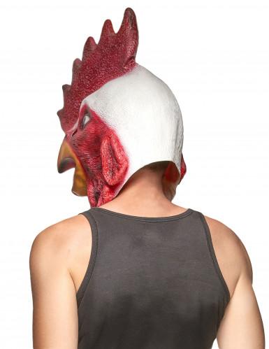 Masque latex tête de coq adulte-1