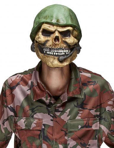 Masque latex tête de cadavre de soldat adulte Halloween