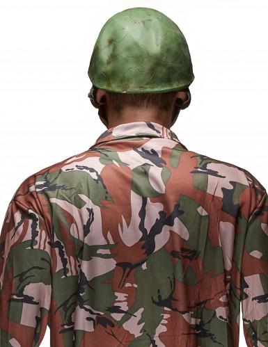 Masque latex tête de cadavre de soldat adulte Halloween-1
