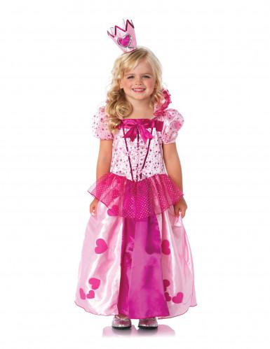 Déguisement princesse rose fille-1