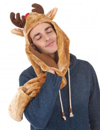 Bonnet avec écharpe renne adulte Noël-2