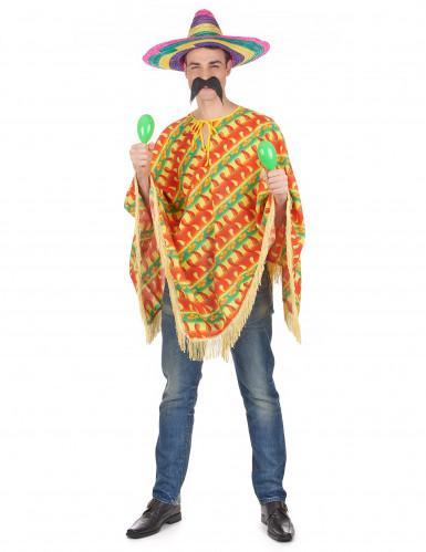 Poncho piment mexicain adulte